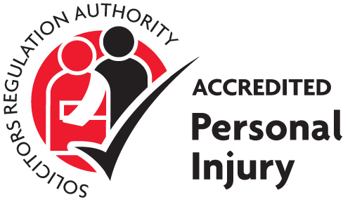 Solicitors Regulation Authority accredited to personal injury